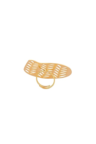 Matte Gold Plated Hanna Ring by Zohra