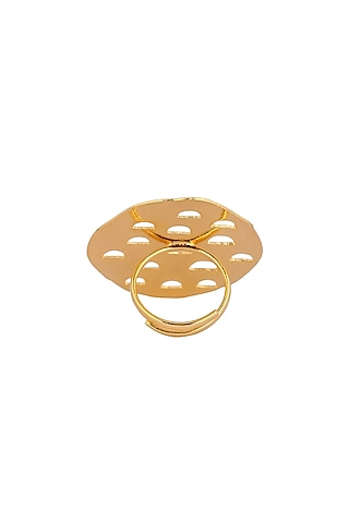 Matte Gold Plated Klara Ring by Zohra