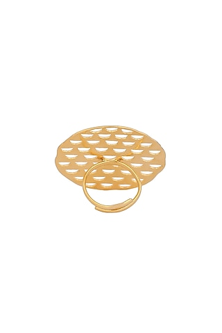 Matte Gold Plated Astrid Ring by Zohra