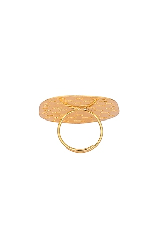 Matte Gold Plated Nora Ring by Zohra