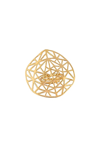 Matte Gold Plated Vega Ring by Zohra