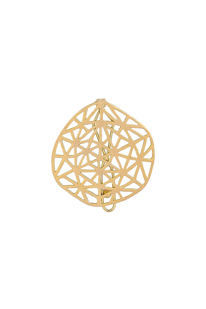 Matte Gold Plated Vega Hair Clip by Zohra