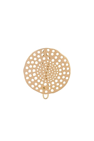 Matte Gold Plated Hair Clip by Zohra