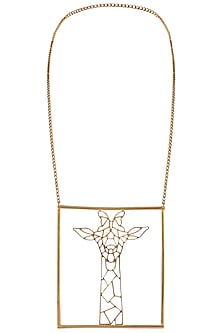 Gold plated geometric necklace by ZOHRA