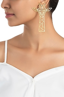 Gold plated geometric earrings by ZOHRA