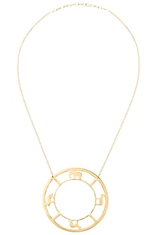 Gold plated bayo necklace by ZOHRA
