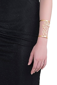 Gold plated seahorse cuff by ZOHRA