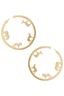 Gold plated ode small hoop earrings by ZOHRA