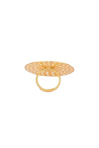 Matte Gold Plated Kaia Ring by Zohra