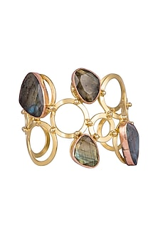 Gold Plated Labradorite Cuff by Zerokaata
