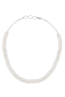 Pearl Branch Thick Necklace by Zerokaata