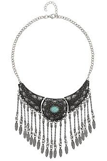 Oxidized Rhodium Plated Gypsy Vintage Necklace by Zerokaata