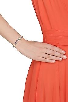 Silver plated women tasteful topaz bracelet by Zerokaata