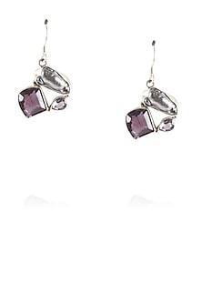Sterling silver stone fish hook earrings by Zerokaata