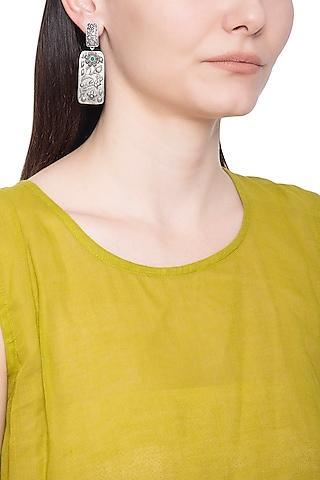 Silver plated geometric earrings by ZEROKAATA
