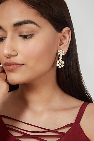 Gold Plated Earrings In Sterling Silver by Zeeya Luxury Jewellery