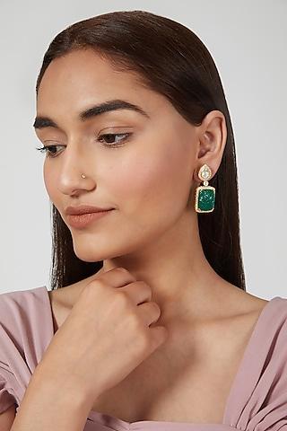 Gold Plated Sterling Silver Earrings by Zeeya Luxury Jewellery