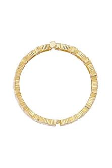 Gold Finish Openable Bangle by Zeeya Luxury Jewellery