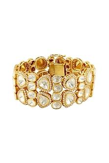 Gold Finish Openable Bracelet by Zeeya Luxury Jewellery