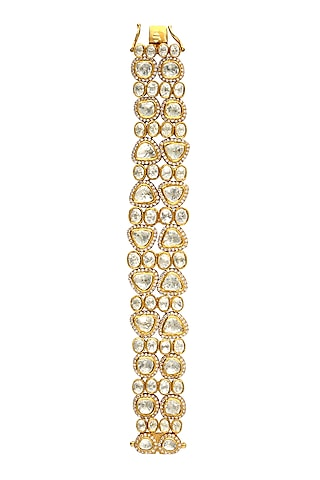 Gold Finish Openable Bracelet by Zeeya Luxury Jewellery